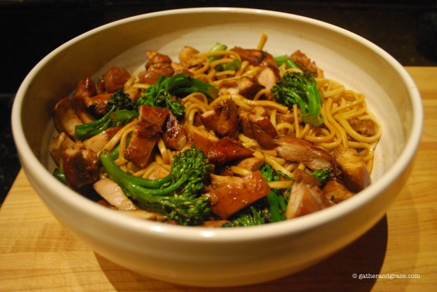 Chicken Teriyaki Udon Noodles Gather and Graze