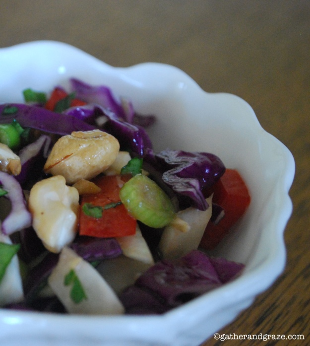 Asian cabbage salad Gather and Graze