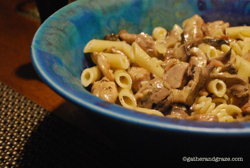 Pasta con Pollo e Funghi (2/2)