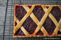 Rhubarb and Raspberry Tart, Gather and Graze