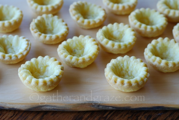 Fennel Seed Shortcrust Tartlet Shells, Gather and Graze