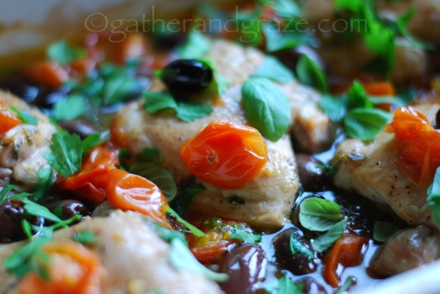 Oven-Baked Italian Chicken, Gather and Graze