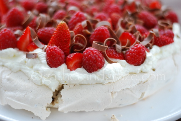 Chocolate-Chip Pavlova, Gather and Graze
