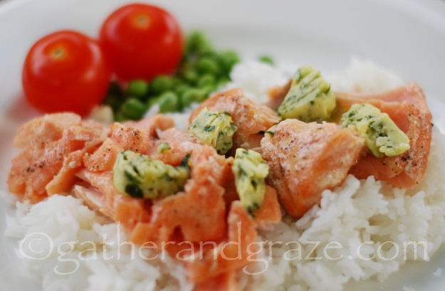 Grilled Salmon, Compound Butter, Gather and Graze