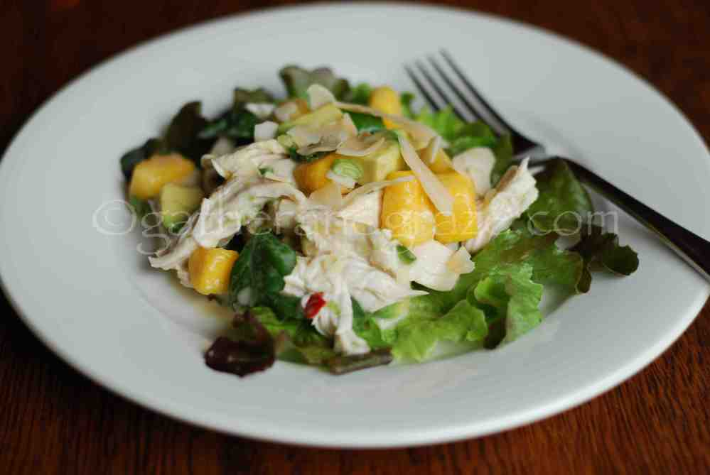 Coconut Poached Chicken with Mango and Avocado Salad (5/5)