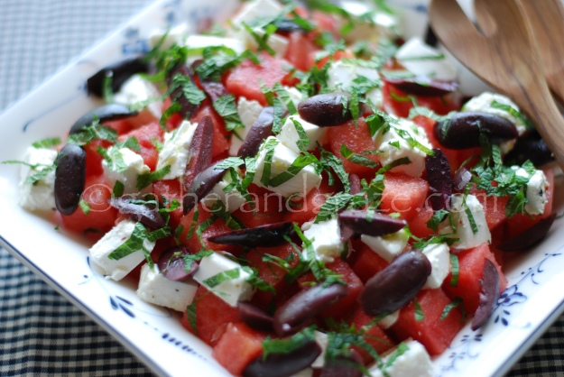 Watermelon, Feta and Olive Salad, Gather and Graze