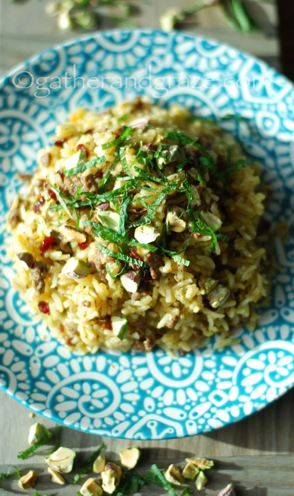 Aromatic Lamb Pilaf, Gather and Graze