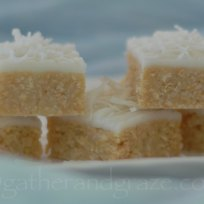 Lemon & Coconut Slice | Gather and Graze