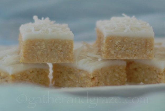 Lemon and Coconut No-bake Slice | Recipe | Gather and Graze