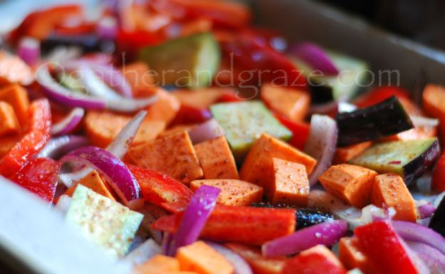 Roasted Vegetable Salad | Gather and Graze