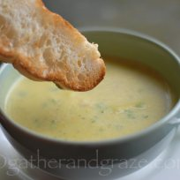 Italian Zucchini Parmesan Soup | Gather and Graze
