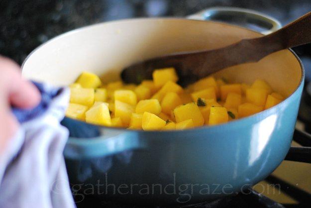 Italian Zucchini Parmesan Soup | Gather and Graze