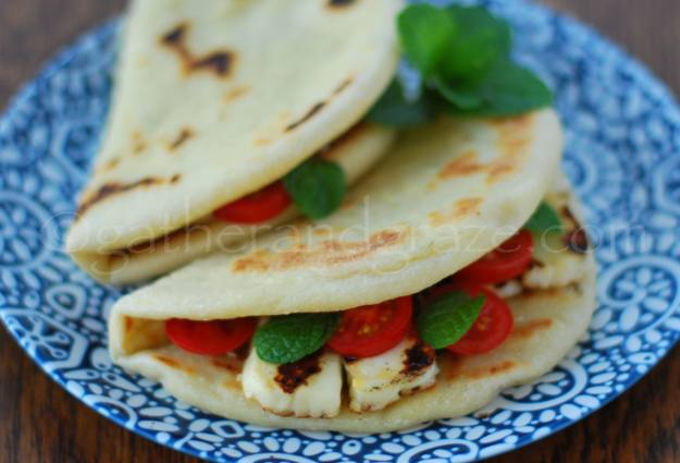 Zaatar Haloumi Man'oushe | Gather and Graze