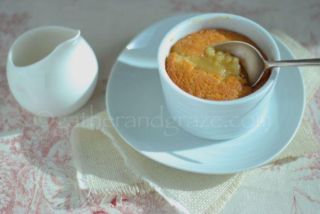 Self-Saucing Butterscotch Pudding   Gather and Graze