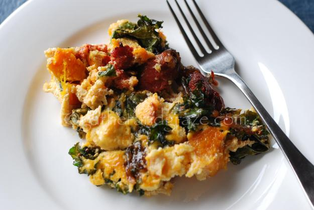 Pumpkin, Chorizo & Kale Frittata | Gather and Graze