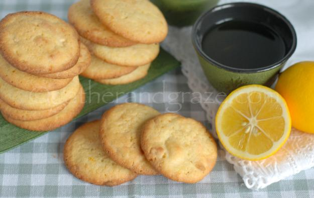 Lemon White Chocolate Cookies | Gather and Graze