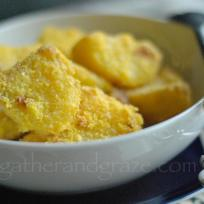 Polenta-Crusted Roast Potatoes | Gather and Graze