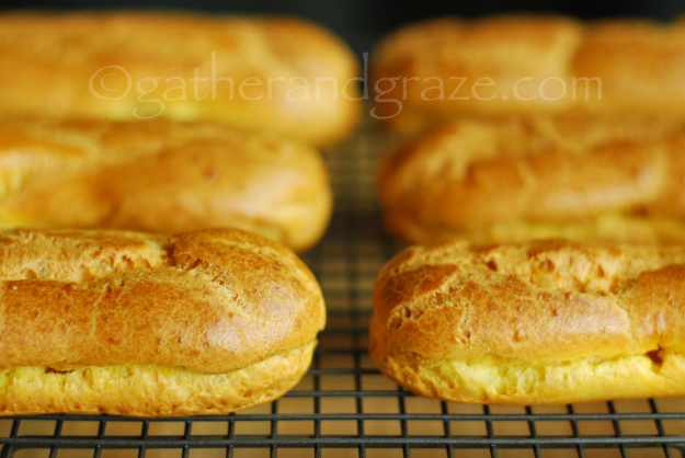 Choux Pastry for Chocolate Eclairs | Gather and Graze