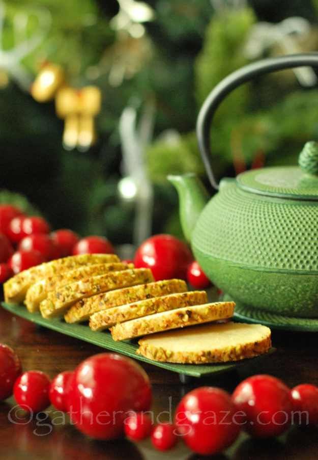 Pistachio Shortbread | Christmas Cookies | Gather and Graze