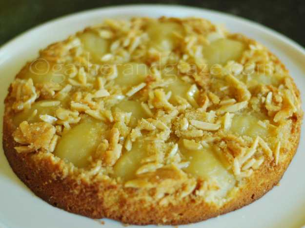 Pear and Almond Upside-Down Cake | Gather and Graze