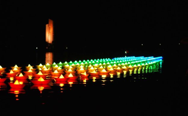 Lake Burley Griffin, Enlighten 2015 | Gather and Graze