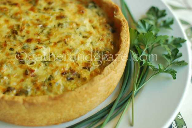 Leek and Fresh Herb Tart / Quiche | Recipe | Gather and Graze