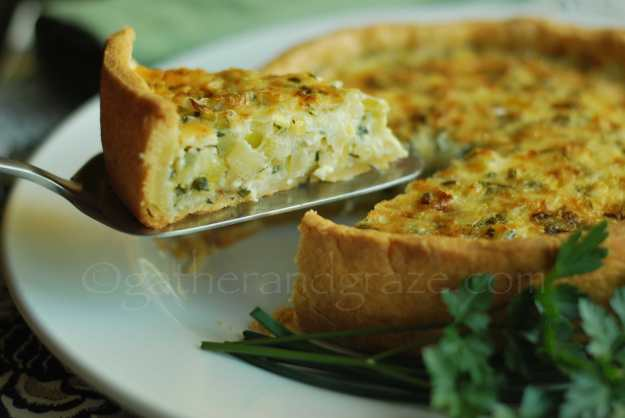 Leek & Fresh Herb Tart | Gather and Graze