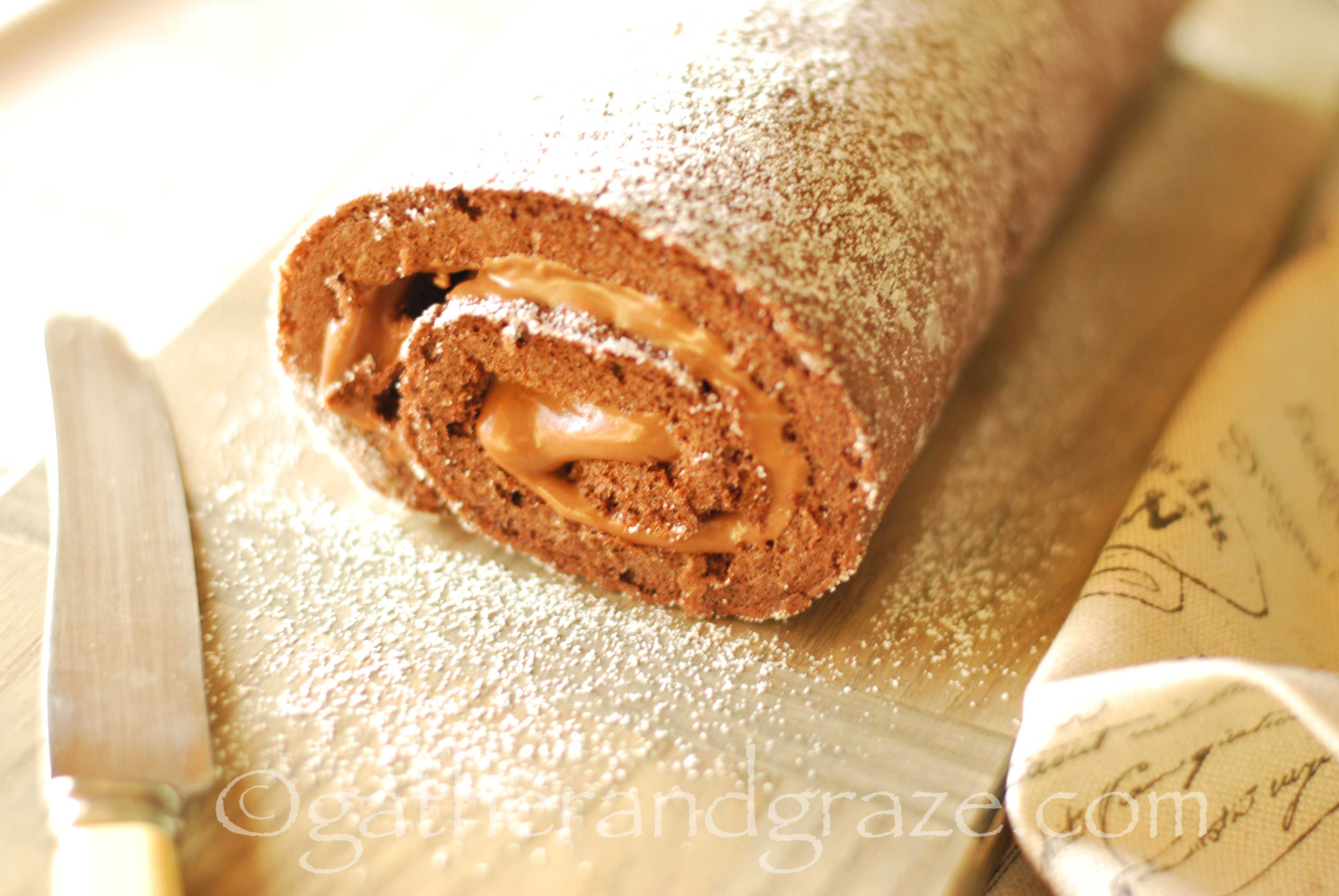 Jelly Roll Cake Recipe And Procedure: Chocolate Swiss Roll With Nutella Cream