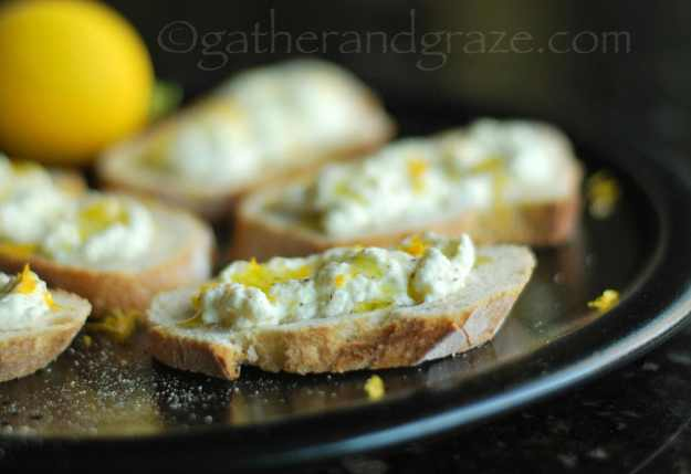 Homemade Ricotta | Four Recipes with Meyer Lemons | Gather and Graze