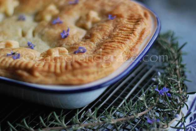 Beef, Rosemary and Red Wine Pie with Rough Puff Pastry | Gather and Graze