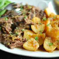 Lamb Boulangere / Slow Cooked Lamb Shoulder and Potatoes Recipe | Gather and Graze