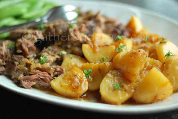 Lamb Boulangere | Slow Cooked Lamb Shoulder with Potatoes | Gather and Graze