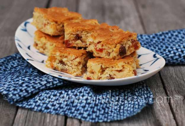 Barb's Fruit and Nut Slice | Recipe | Gather and Graze