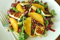 Halloumi, Orange and Bitter Leaf Salad | Gather and Graze