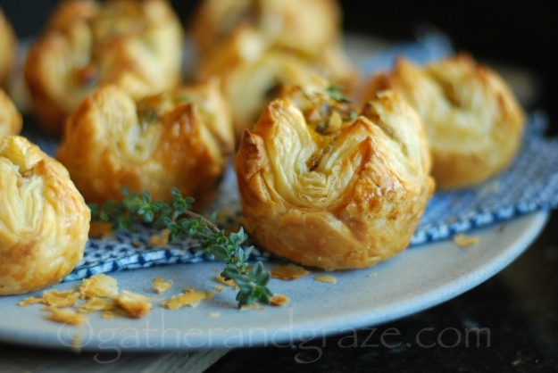 Leek, Mushroom & Gruyère Pastries | Gather and Graze