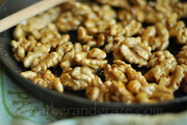 Maple Glazed Walnuts | Gather and Graze