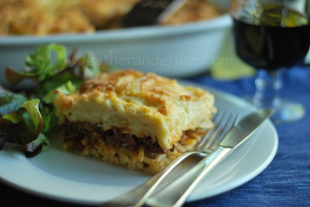 Beef Pastitsio | Gather and Graze