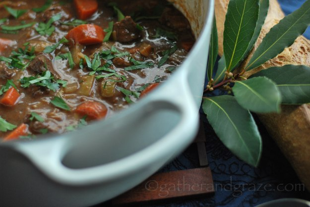 Beef & Red Wine Casserole Recipe | Gather and Graze