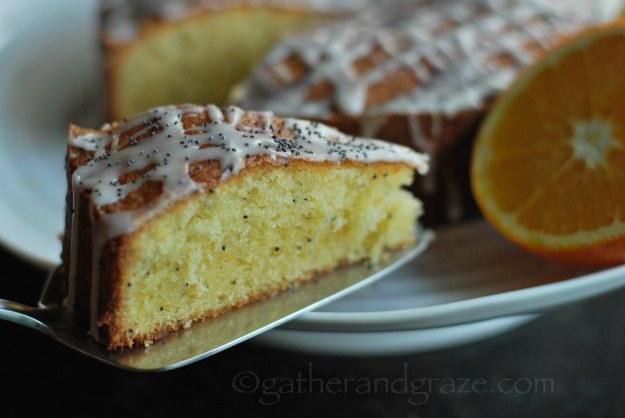 Orange Poppyseed Quatre-Quarts Cake | Gather and Graze